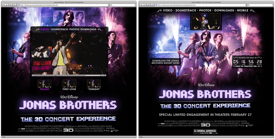 Jonas Brothers Website